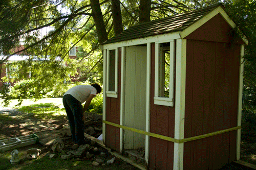 outhouse moved for repair